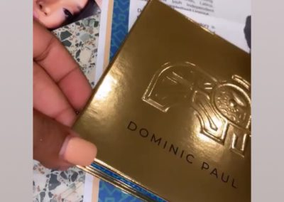 Social media star Nicola Tyas loves her Dominic Paul cosmetics contour palette