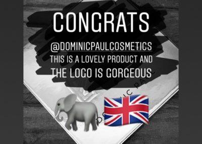 Youtube & Influencer Joseph Harwood loves his Dominic Paul Cosmetics contour palette