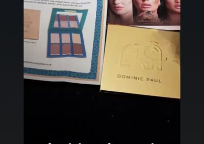 BBC Glow Up star Stephanie loves her Dominic Paul cosmetics contour palette