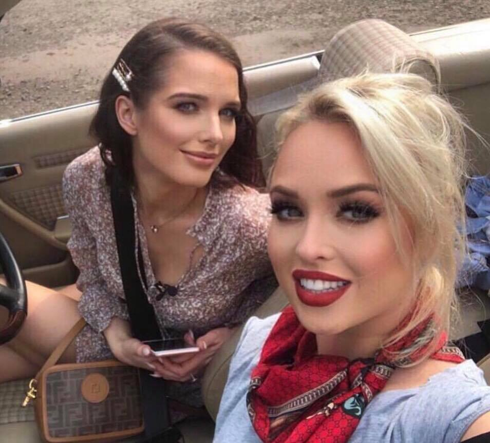 Soap Princesses Helen Flanagan & Jorgie Porter wearing Dominic Paul cosmetics contour palette