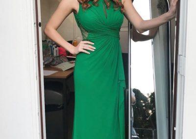 Westend star Sophie Evans wearing our Dominic Paul cosmetics contour palette