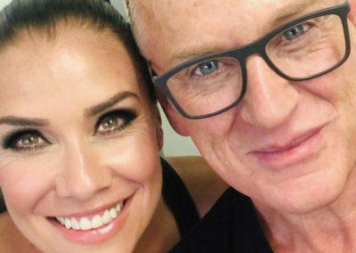 Celebrity mua Scott Beszick using our Dominic Paul cosmetics contour palette on Liberty X star Jessica
