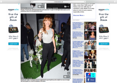 Summer Monteys Fullam at our Dominic Paul Cosmetics Launch Party | Daily Mail