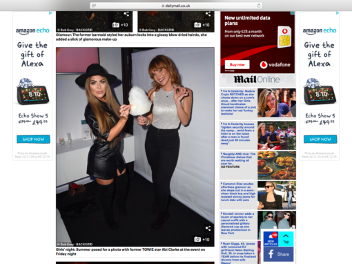 Summer Monteys Fullam and Abigail Clarke at our Dominic Paul Cosmetics Launch Party | Daily Mail