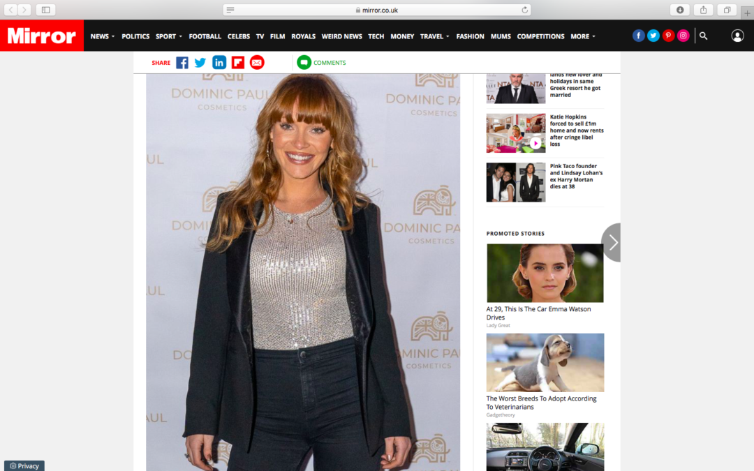 Summer Montey's Fullam Looking gorgeous at our Dominic Paul Cosmetics Event | Mirror online