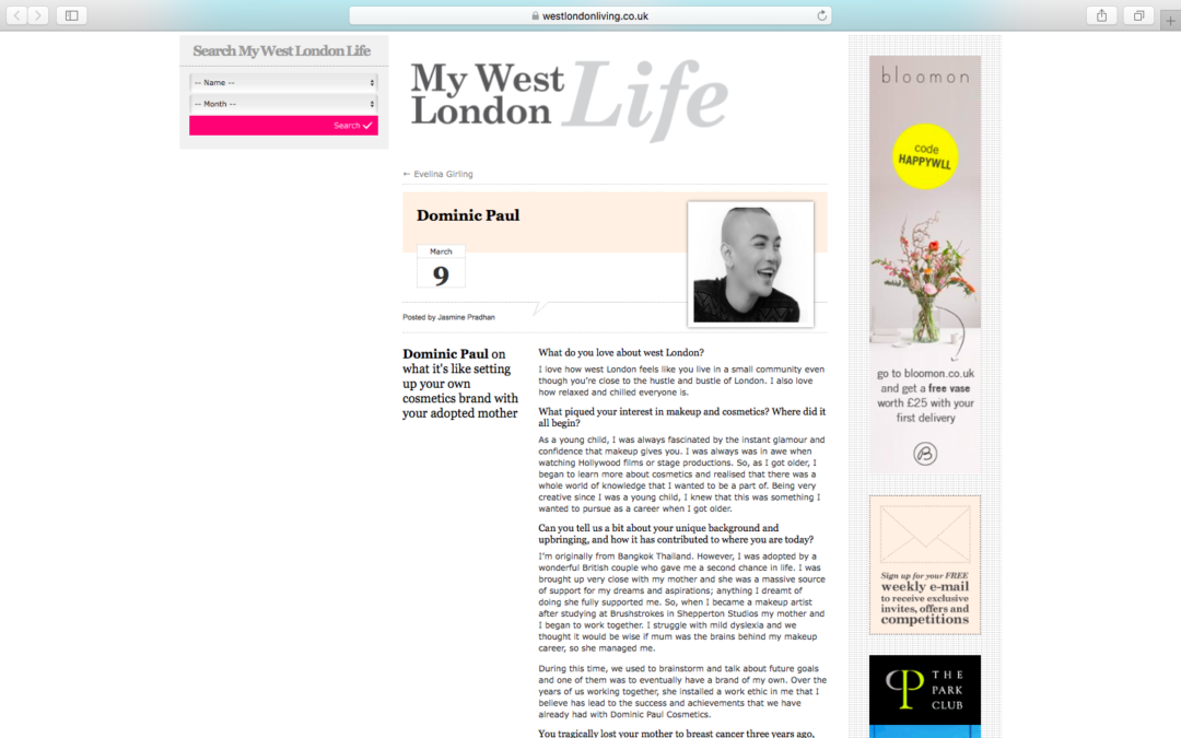 Q&A – West London Living Magazine