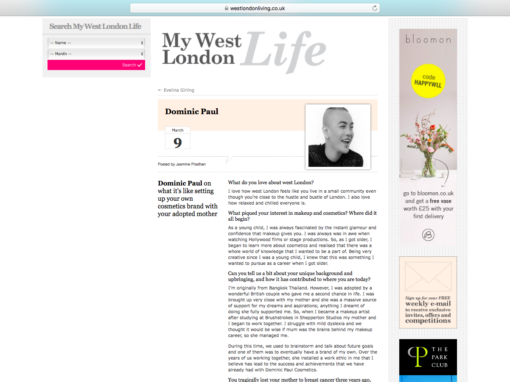 Q&A – West London Living Magazine